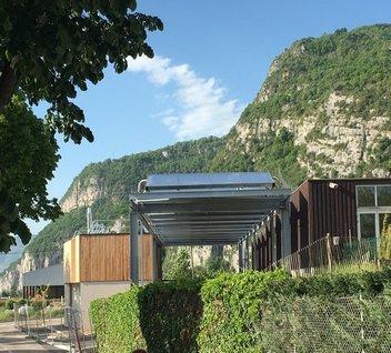 Réseau de chaleur, à Voreppe, chauffe au bois et à l'énergie solaire